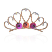 TEEMI Pageant Crystal Tiara Rhinestone Crown Comb With Change Colours Balls ZFS0058-2