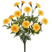 38cm Artificial Marigold Bush