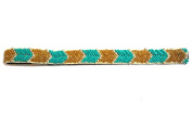 Chicky Chicky Bling Bling Turquoise Bohemian Beaded Arrow Headband Womens Turquoise with Gold