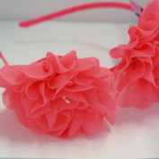 Chicky Chicky Bling Bling Girls Hot Pink Fairy Flower Luau Headband Womens Hot Pink