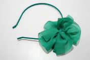 Chicky Chicky Bling Bling Girls Green Chiffon Bow Headband Womens Green
