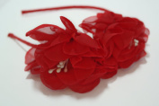 Chicky Chicky Bling Bling Girls Red Fairy Flower Luau Headband Womens Red