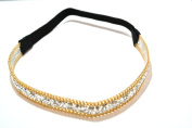 Chicky Chicky Bling Bling Dazzling Glitter and Gold Chain Headband Womens