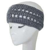 WIIPU Winter short brimmed grey handwoven wool hat knitted headband