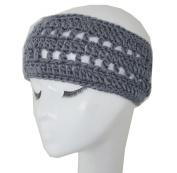 WIIPU Winter short brimmed grey handwoven wool hat knitted headband
