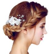 Meiysh Bridal Hair Flower Side Comb Bridal Barrette Headpiece Wedding Accessories