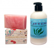 Caffeine and Tea Tree Oil Shampoo Bar and Stimulating Conditioner