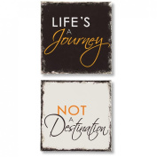 "Word Accents ""Journey and Destination"" Wall Art Set"