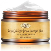 Best Deep Conditioner Hair Mask - Thin to Normal Hair Treatment - Natural Moroccan Argan Rich Mask 250ml for Dry or Damaged Hair - Long Lasting Conditioning Hair Restorative Deep Repair Thin Hair Nourishment