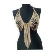 Yontree Women Bikini Body Chain Sexy Tassel Chain