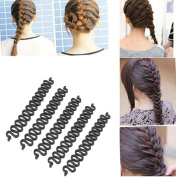 OPCC 5PCS Fashion French Hair Styling Clip Stick Bun Maker Braid Tool Hair Accessories Twist Plait Hair Braiding Tool