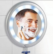 Ideaworks Fogless LED Shower Mirror - 12 Super Bright Lights & 3 Strong Suction Cups