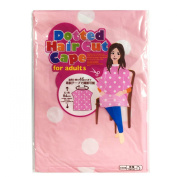 Haircut Cape for Adult, Polka Dot Pink
