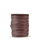 FreshHear Pack of 1 for 80m Waxed Cotton Cord Colour Chocolate Size 2x2mm