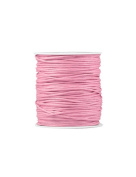 FreshHear Pack of 1 for 80m Waxed Cotton Cord Colour Pink Size 1.5x1.5mm