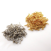 Heaton [Silver & Gold 8mm each 100] a total of 200 pieces gold silver UV resin resin handmade accessories parts fittings for Powder Trading
