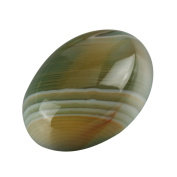 """2pcs AAA Unique Double Colours Agate Oval Cabochon Arc Bottom Gemstone beads 25x18mm or 9.84""""x7.09"""" #GP11"""