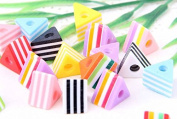 Clear-silicone beads Moulds,18-pc,European style! Triangle Spacer Beads 12x9mm.
