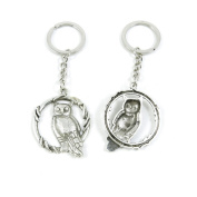 80 Pieces Keyring Keychain Keytag Key Ring Chain Tag Door Car Wholesale Jewellery Making Charms F8KB4 Owl