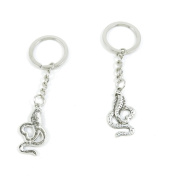 2 Pieces Keyring Keychain Keytag Key Ring Chain Tag Door Car Wholesale Jewellery Making Charms P6PY1 Cobra Snake