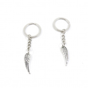 1 Pieces Keyring Keychain Keytag Key Ring Chain Tag Door Car Wholesale Jewellery Making Charms S6SK6 Angel Wings