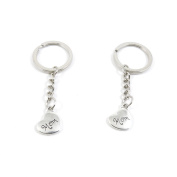 40 Pieces Keyring Keychain Keytag Key Ring Chain Tag Door Car Wholesale Jewellery Making Charms L2IK4 Mom Love Heart