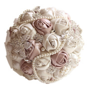 BEAUTBRIDE Handmade Wedding Bouquets Artifical for Wedding Luxury Beads Pearls