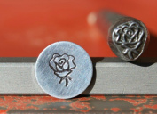 Supply Guy 7mm Rose Flower Metal Punch Design Stamp K-28