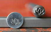 Supply Guy 7mm Lotus Flower Metal Punch Design Stamp 375-63