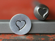 Supply Guy 7mm Whimsical Heart Metal Punch Design Stamp 375-47