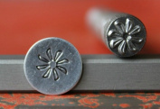 Supply Guy 7mm Swirling Flower Metal Punch Design Stamp 375-53