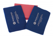 Set of 2 Polishing Cloths Made in USA for Gold Silver and Platinum Jewellery Coins Silverware and Watches - Ultra Soft Cotton - Gift Box Included - Chemicals Free Tarnish Remover - Keep Jewellery Shining!