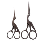 Souarts Antique Bronze Colour Precision Scissor for Embroidery Sewing Craft Art Work Everyday Use Pack of 2pcs