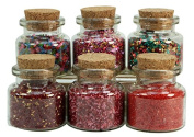 Medley Glitters Set of Corked Jars - 311-M-0605