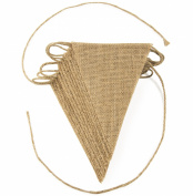 ThxToms Burlap Bunting, DIY Hand Painted Decoration for Wedding, Birthday and Kids Party, DIY, 13pcs, 3m