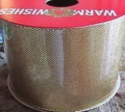 Gold Metalic Fabric Ribbon 3.7m x 6.4cm