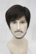 Kalyss Men's Short Dark Brown Hair wigs