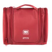 Linsam Toiletry Bag Waterproof Wash Bag Travel Organiser Cosmetic Bag with Hanging Hook Pink
