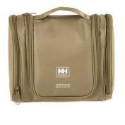 Linsam Toiletry Bag Wash Bag Make Up Bag Travel Organiser Cosmetic Bag with Hanging Hook Dark Khaki