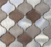 10cm x 15cm Samples - Casablanca Aluminium Metal Arabesque Mosaic Tiles