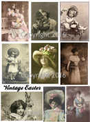 Victorian Easter Photos Collage Sheet #102