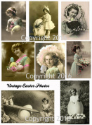 Victorian Easter Photos Collage Sheet #101