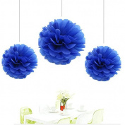 Since ® 8pcs NaVy Blue Tissue Paper Pom-poms Flower Ball Hanging Pom Wedding Party Outdoor Decoration Wedding Nursery Decorations Bridal Shower Party Room Decor