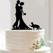 FENICAL Bride And Groom Style Cake Topper Wedding Anniversary Party Cake Topper
