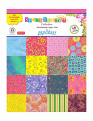 Paperhues Spring-Summer Collection 22cm x 28cm Pad, 40 Sheets. Decorative Specialty Handmade Origami Papers for Gift Wrap, Cards, Scrapbooking, Decor, Art and Craft Projects.