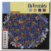 Artemio 11002023 Japanese Paper Set 10 Sheets Blue