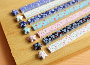 Maggicoo 400 Sheets Lovely Cute Star Folding Paper Lucky Wish Star Origami Paper
