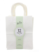 Gift Expressions Medium White Kraft Bags - 12 Count