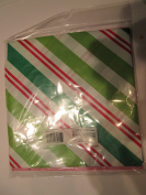 Giant Plastic Holiday Stripe Gift Bag for large items 90cm . x 110cm .