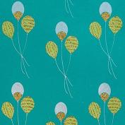 Glitter Gift Wrap - Balloons - Aqua Blue/Green/Metallic Silver/Glitter